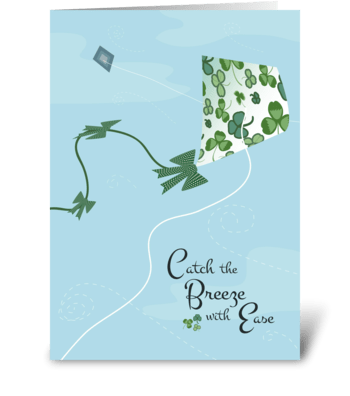 Shamrock Kite greeting card