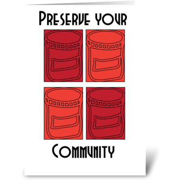 Preserve your community greeting card