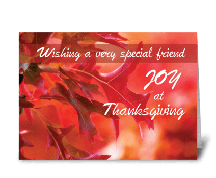 Friend, Thanksgiving Joy Fall Leaves greeting card