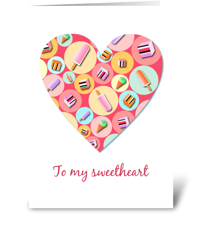 Sweet Candy Heart greeting card