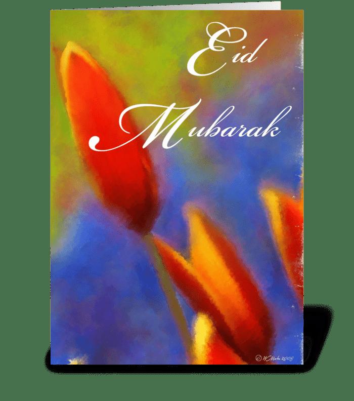 Tulip Bulb Eid mubarak Greeting Card greeting card