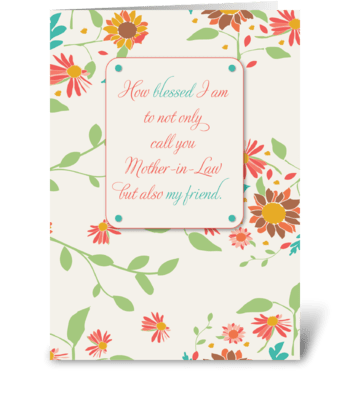 Birthday Mother-in-Law, Religious  greeting card