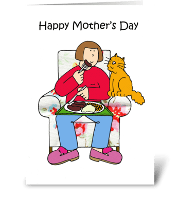 Happy Mother's Day, Ginger Cat. greeting card