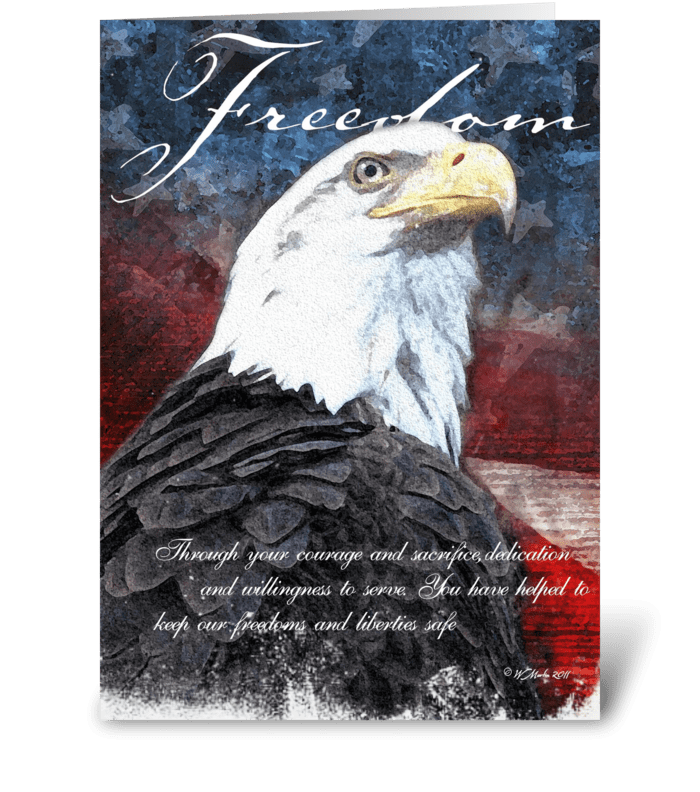 Freedom Eagle Veteran's Day Card greeting card