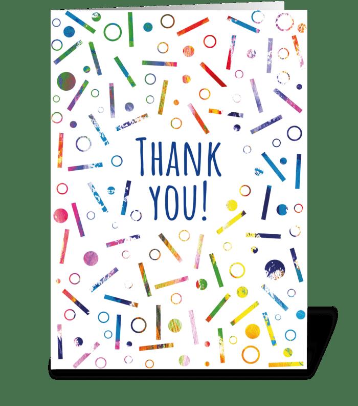 132 Thank You Confetti greeting card