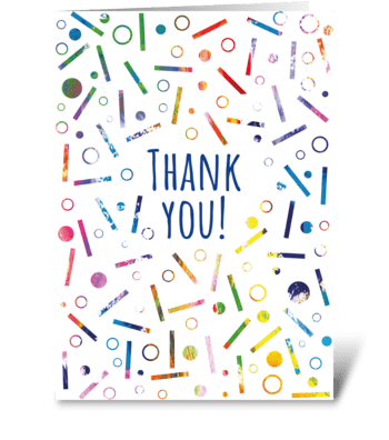 132 Thank You Confetti greeting card