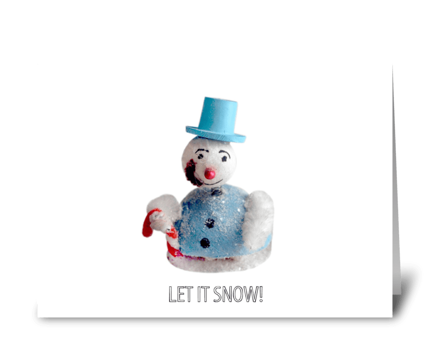 Let it Snow! Snowman greeting card
