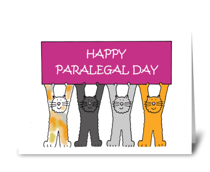 Happy Paralegals Day, Cartoon Cats greeting card