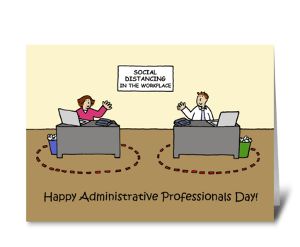 Covid Administrative Professionals Day greeting card