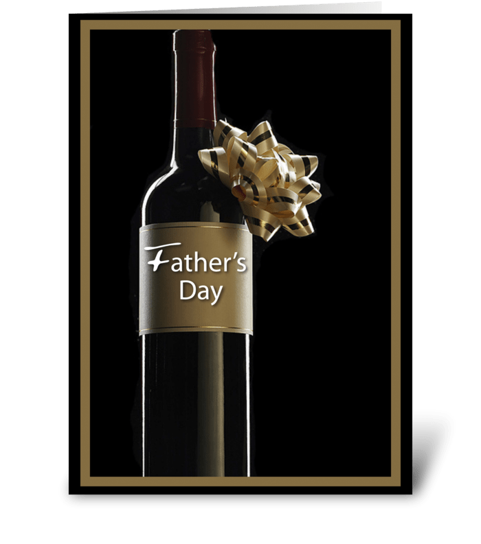 Father's Day Wine Bottle greeting card