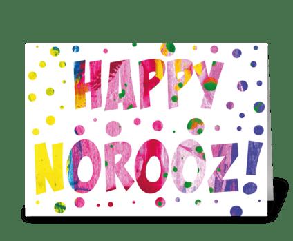 42 Happy Norooz Card greeting card