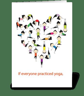 I Heartt Yoga greeting card