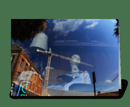 Reflection In Savannah greeting card