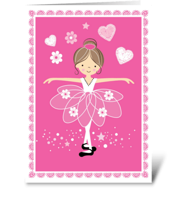 Birthday Ballerina greeting card