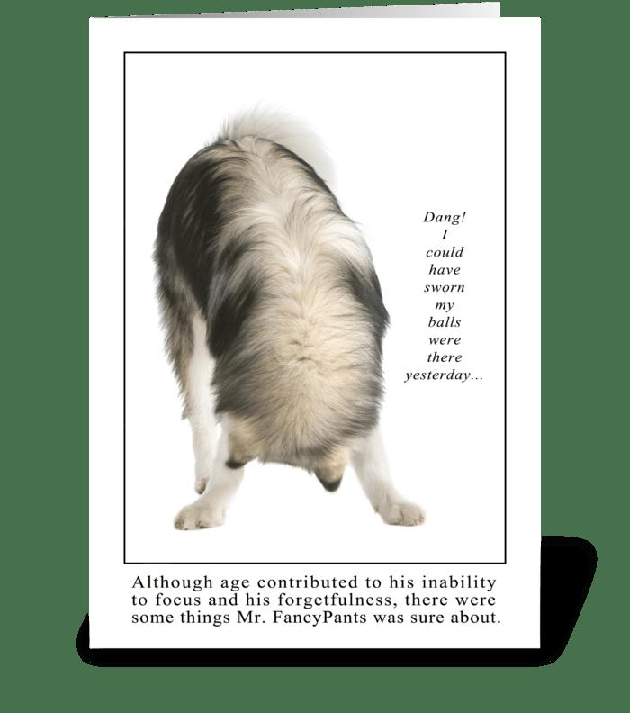 Forgetfullness greeting card