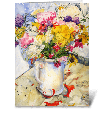 Flower Bouquet greeting card