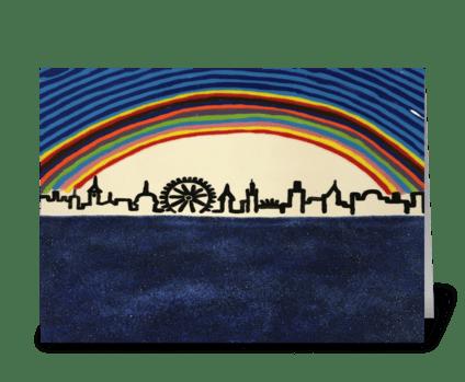 Rainbow City greeting card