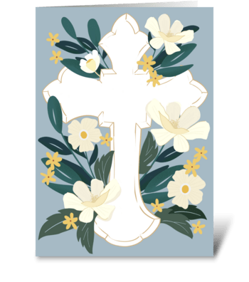 Garden Cross greeting card