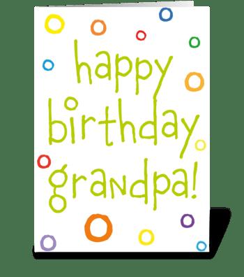 110 Grandpa Birthday Card greeting card