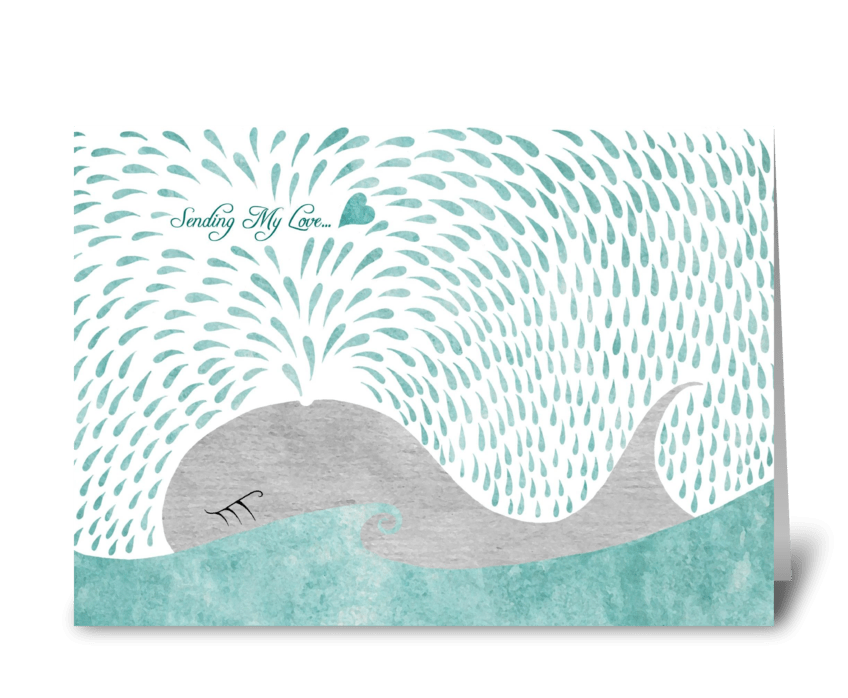 Whale Love greeting card