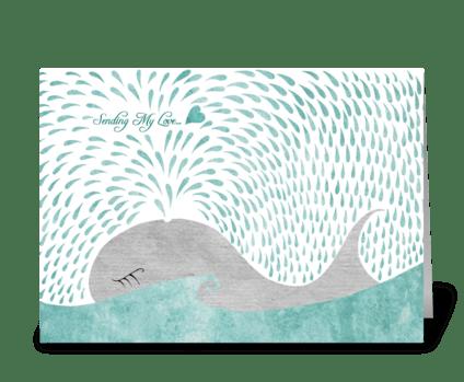Whale Love greeting card