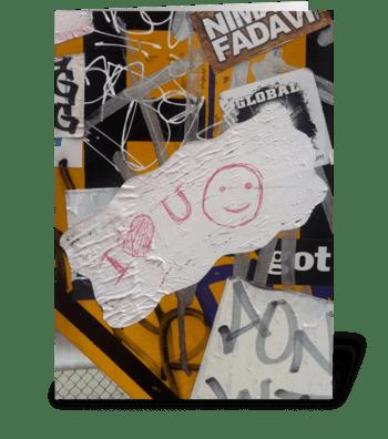 Happy Graffiti - photograph greeting card