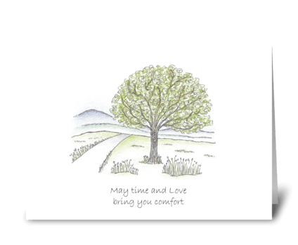 May time and love bring you comfort greeting card
