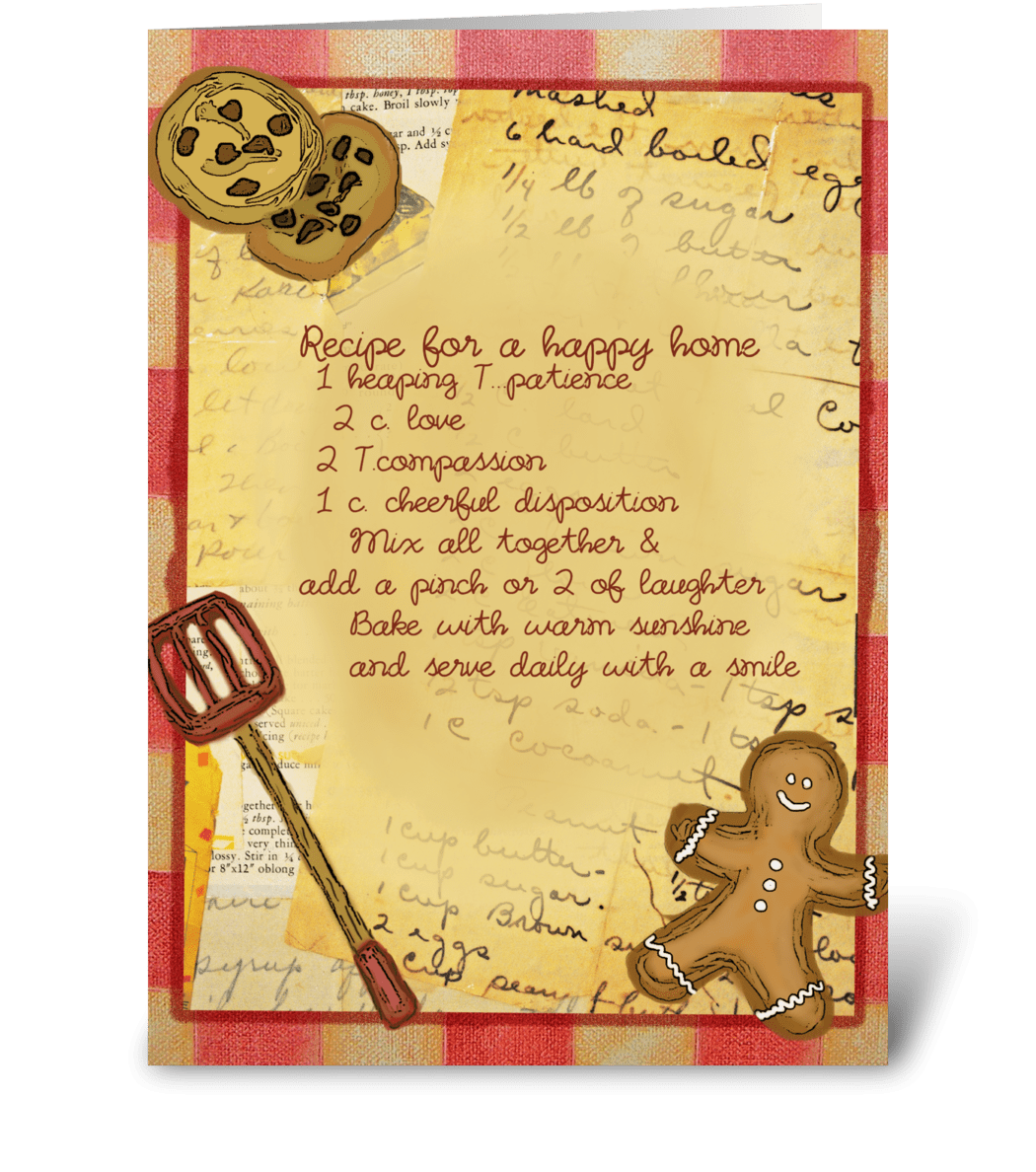 Recipe For A Happy Home Send This Greeting Card Designed By