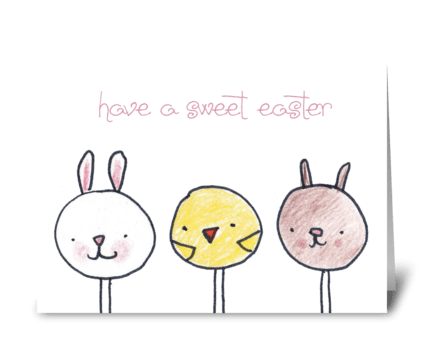 Cake Pop Easter greeting card