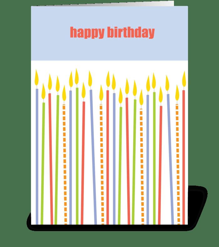 Birthday candles greeting card