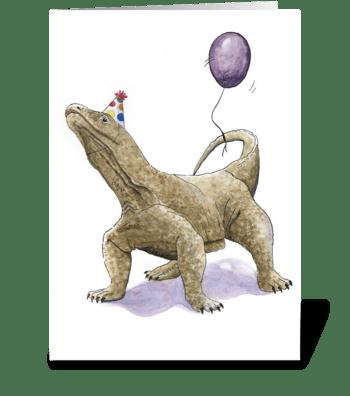 Dragon Party Animal greeting card