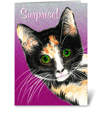 Surprise! Birthday greeting card