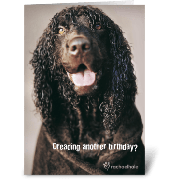 Dreading another birthday? greeting card