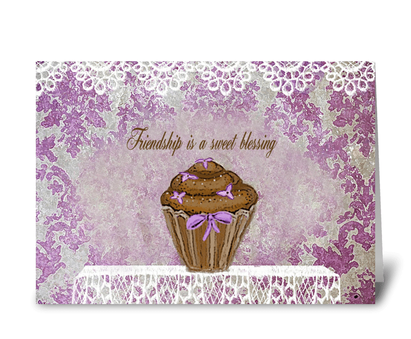 Friendship is a sweet blessing greeting card