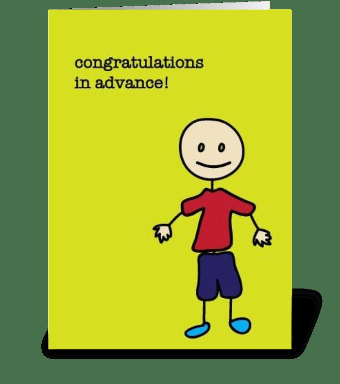 Premature Congratulations greeting card
