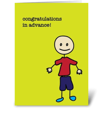 Premature Congratulations greeting card