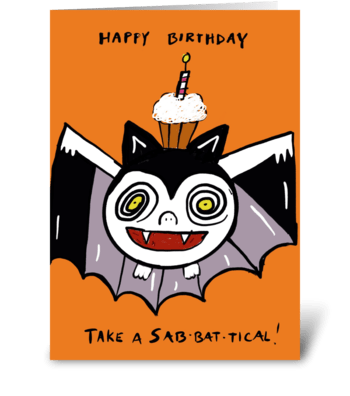 Sabbatical Birthday greeting card
