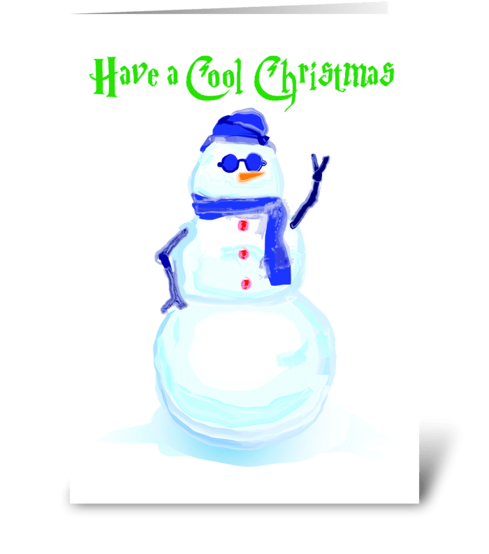 Snowman Cool greeting card