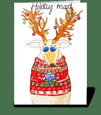 Holiday mood greeting card