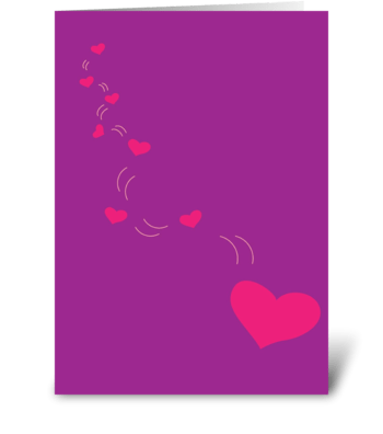 Falling Hearts greeting card