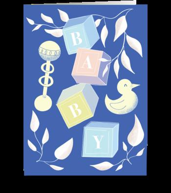 Baby Blocks greeting card