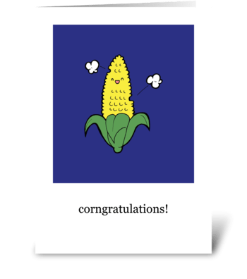 """Corn""-gratulations! greeting card"