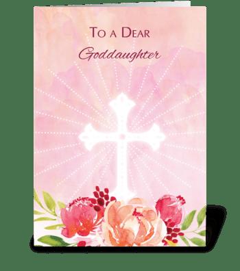 Goddaughter Religious Easter Blessings greeting card