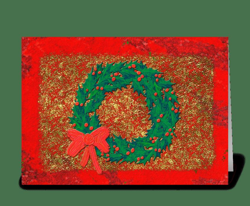 Wreath greeting card