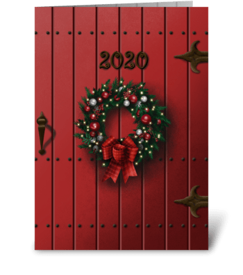 Christmas door greeting card