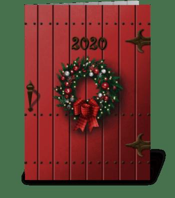 Christmas door greeting card