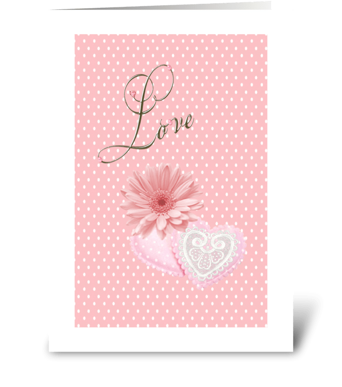 Pink Love greeting card