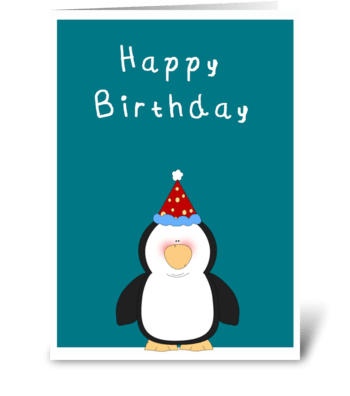 Happy Birthday Cute penguin Card greeting card