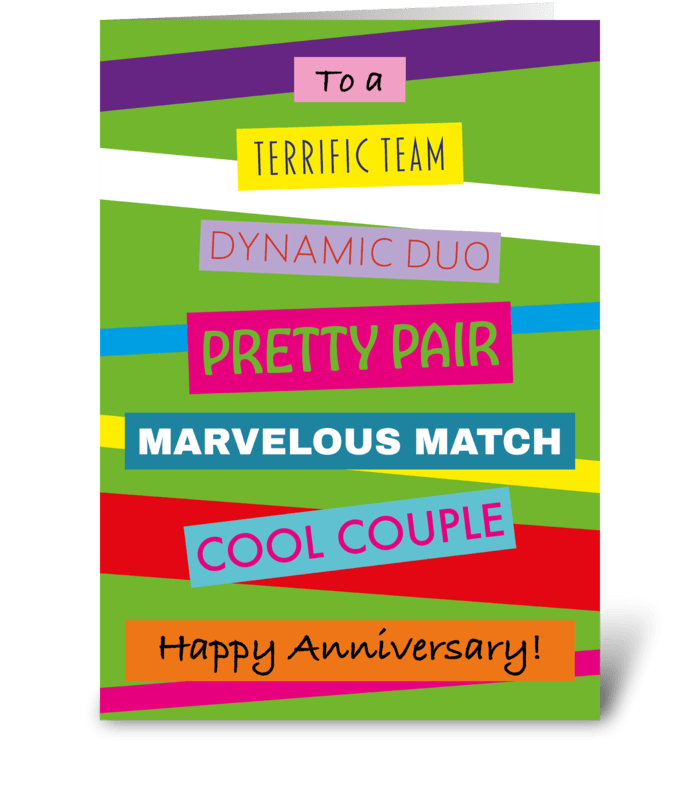 34 Stacked Anniversary Card greeting card