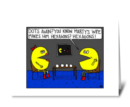 Pac-Man Protests greeting card